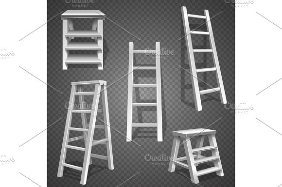 Steel Vector Staircases Metal Ladder Aluminum Stairs Vector
