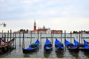 Gondolas in Venezia, Italy