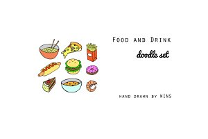 Food and Drink Doodle Set
