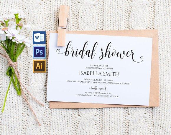 Bridal Shower Invitation Wpc 133