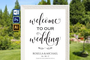 Wedding Welcome Sign Wpc 134