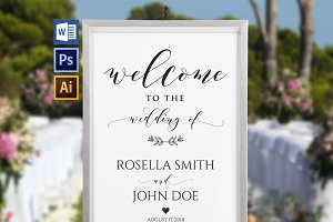 Wedding Welcome Sign Wpc 135