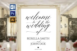 Wedding Welcome Sign Wpc 136