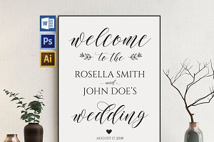 Wedding Welcome Sign Wpc 137