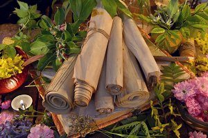 Old scrolls and healing herbs