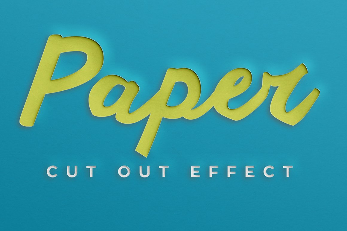 Paper cut out effect layer styles creative market spiritdancerdesigns Gallery