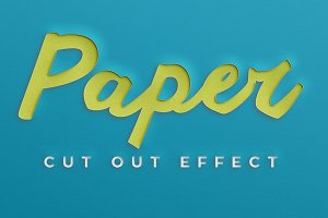 Paper Cut Out Effect