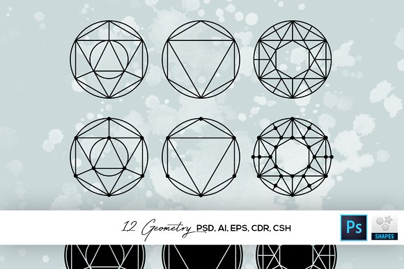 12 Geometry Shapes CSH