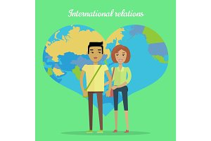 International Relations Flat Design Vector Concept