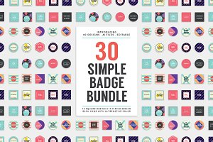 30 Simple Logo Badge Bundle