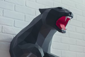 DIY Panther 3D model template