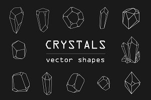 Crystals vector shapes