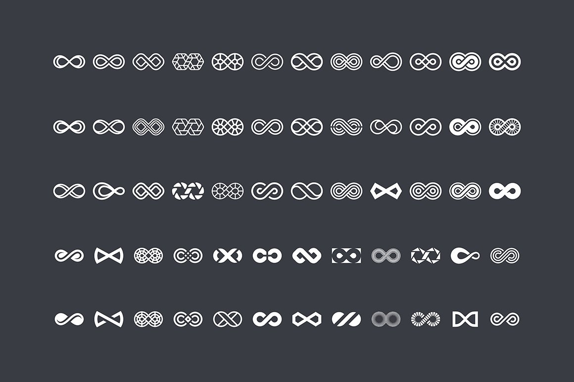30 Infinity Symbols Eps Png Icons Creative Market