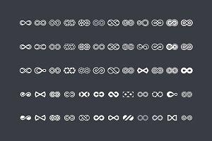 60 Infinity Symbols