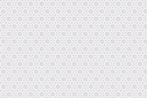 Arabesque seamless pattern with stars