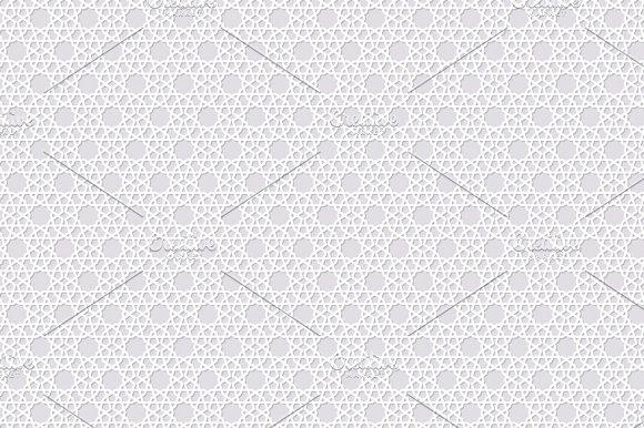 Arabesque seamless pattern with stars