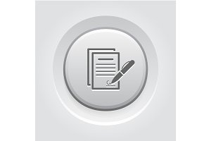 Signing Contract Icon. Business Concept