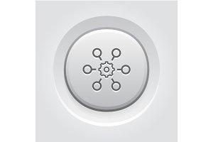 Process Automation Icon. Business Concept