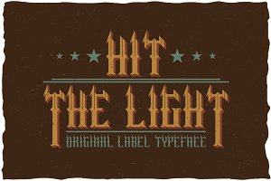 Hit The Light Vintage Label Typeface