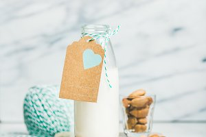 Vegan dairy-free almond milk