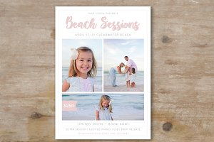 Beach Mini Session Template