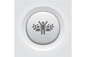 Leader Icon. Business Concept
