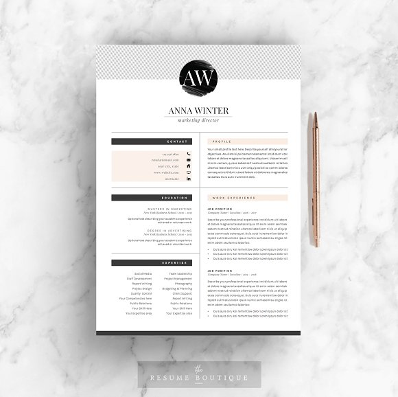 Resume Template 5pages Stiletto