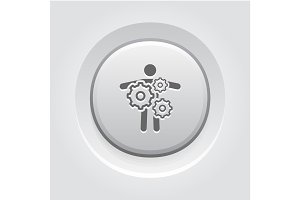 Key Person Icon. Business Concept