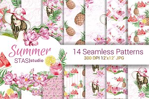 Summer Fashion Digital Paper Pack