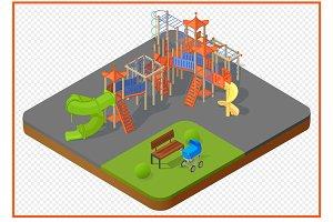 playground vector isometric