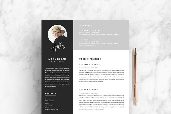 5 page Resume Template | Blackie