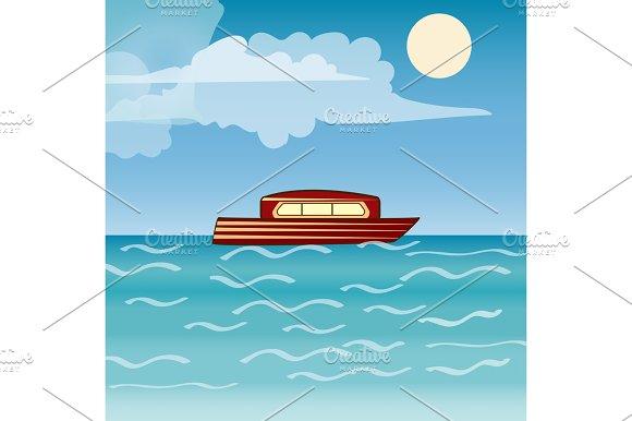 Water Transport Travel Ship Across Sea River Ocean