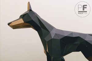 DIY Doberman 3D model template