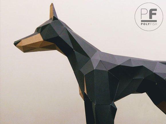 DIY Doberman 3D Model Template