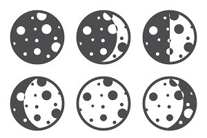 Moon phases icons.