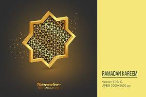 Ramadan Kareem 3d octagon.
