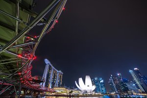 landscape of marina bay in Singapore