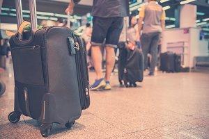 luggage with conveyor belt