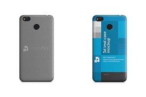 Xiaomi Redmi 4 3d IMD Case Mockup