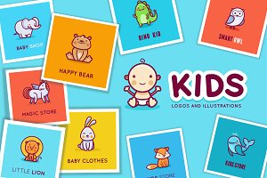 10 logos and illustrations for kids