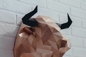 DIY Bull Head 3D model template