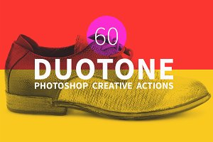 60 Duotone Actions for Photoshop