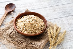 Oat flakes, healthy food
