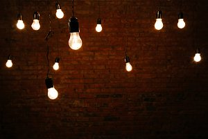 Light bulbs in the room