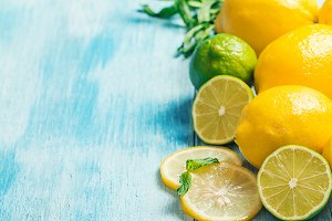 Fresh slice lemon