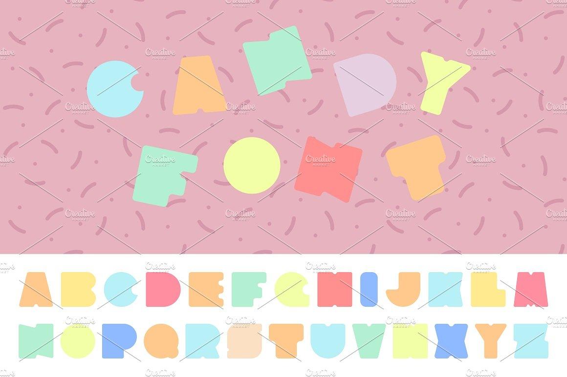 Memphis Alphabet and summer cards ~ Illustrations ~ Creative Market