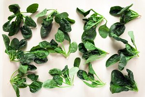 Fresh spinach background