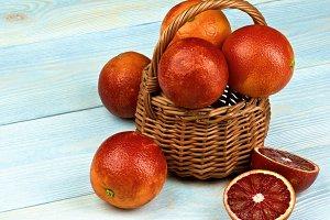 Blood Orange in Basket