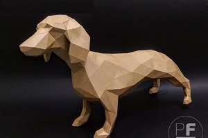 DIY Dachshund 3D model template