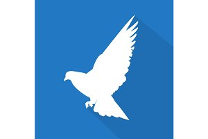 Creative dove icon